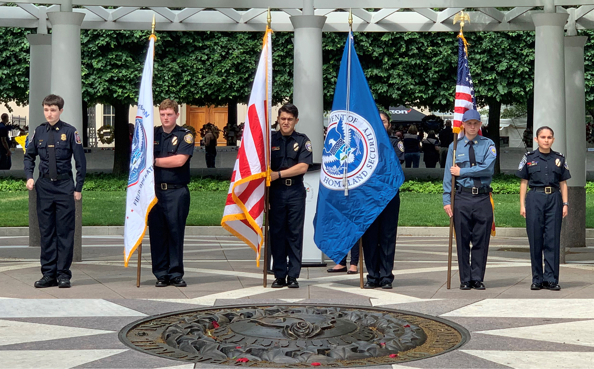 PSC Present Colors at Law Enforcement Memorial